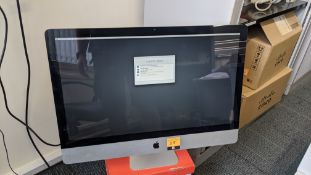 "27"" Apple iMac all-in-one computer model no. A1312 EMC2390 with 2.8GHz core i5 (i5-760), 4Gb RAM, 1T"