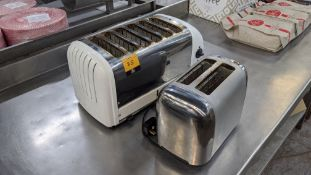 Dualit 6 slice toaster plus Breville twin slice domestic toaster