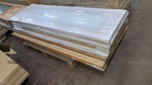 8 off assorted hardwood, glazed & other assorted doors