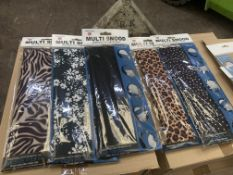 25 off multi snood face coverings, in 5 different designs - 5 each of 2 different animal prints, flo