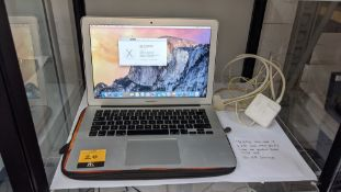 Apple MacBook Air in silver model A1466 with 1.4GHz Intel Core i5, 120Gb storage, 4Gb 1600MHz DDR3,