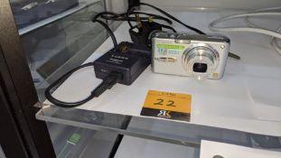 Panasonic Lumix 28mm wide angle digital camera, model DMC-FX07, including battery, 4Gb memory card &