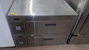 Stainless steel twin drawer refrigerated prep unit