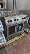 Falcon G2102C stainless steel 6-ring gas oven