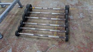 6 off Ziva ZVO Series rubber barbells