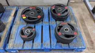 Quantity of Ziva ZVO Series rubber grip discs.