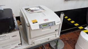 Oki C5750 printer including book pack, driver, user guide & utilities discs, etc.