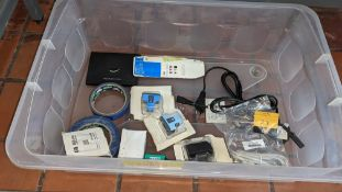 Quantity of HP inkjet cartridges plus cables, Ultratape & other miscellaneous IT related items