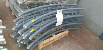 """Optikinetics Trilite 200 Series 2"""" aluminium tube truss system in dark grey."""