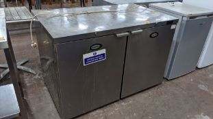 Foster stainless steel deep twin door fridge with external dimensions approximately 1220mm x 750mm x