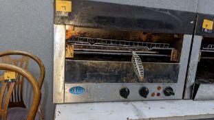 Overhead salamander grill