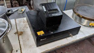 Posnow thermal receipt printer & cash drawer with key