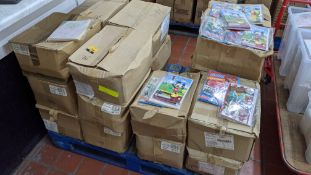 The contents of a pallet of assorted greetings cards comprising 10 boxes of Disney & other branded a