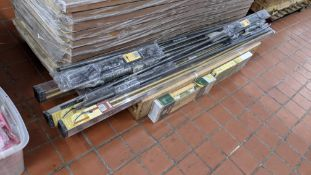 Approx. 16 off assorted curtain poles, curtain rails, Venetian blinds & similar