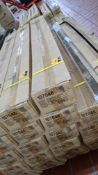 30 off aluminium Venetian blinds in gold colour, 135cm width, 152cm drop