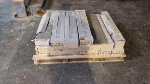 Approx. 17 boxes of Love ceramic tiles, each tile measuring 15 x 75cm, each box containing 10 tiles