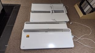4 off Prem-I-Air 2kW programmable panel heaters model EF1556 including wall brackets