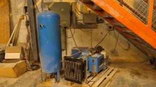 2010 Boge model CL20 compressor plus vertical air receiver & separate dryer