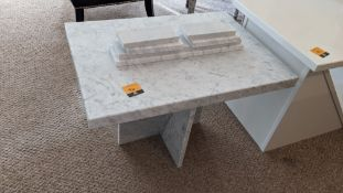 Small granite table with optional loose feet, tabletop measuring 700 x 500mm, height of table approx