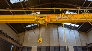 2001 Street overhead travelling crane with 3.2tonne capacity. Serial no. 11006. This lot comprises t