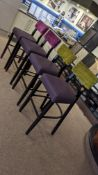4 matching barstools in 2 different upholstered fabrics