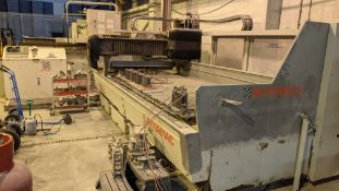 2001/2 Marmo Intermac jet CNC cutting machine with Marmo KUR0502 cab control panel & tooling, serial