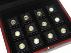 THE ROYAL HOUSE OF WINDSOR GOLD COIN COLLECTION comprising twelve 9ct yellow gold coins, Head of the