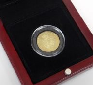 GEORGE III GOLD SPADE GUINEA DATED 1789 IN PRESENTATION BOX Condition Report: In good overall