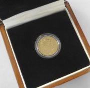 GEORGE IV GOLD FULL SOVEREIGN DATED 1821, LAUREATE HEAD LEFT in presentation box with Certificate