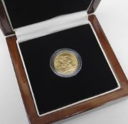 GEORGE V 1918 'I' GOLD SOVEREIGN, the only sovereign struck at The Royal Mint, Bombay, in original