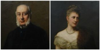 NINETEENTH CENTURY BRITISH SCHOOL oil on canvas, a pair - half portrait of Henry Hussey Vivian