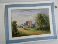ALBUM OF 13 WATERCOLOURS ON RICE PAPER RELATING TO SINGLETON ABBEY SWANSEA, circa 1830s, unsigned