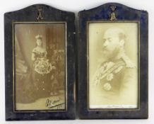 PAIR OF SIGNED PHOTOGRAPHS OF PRINCE OF WALES (ALBERT EDWARD) & ALEXANDRA OF DENMARK both dated 1881