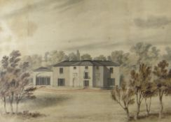 NINETEENTH CENTURY BRITISH SCHOOL watercolour - the Glynn Vivian country residence 'Marino',