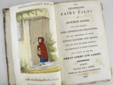 RARE VOLUME OF 'THE CELEBRATED TALES OF MOTHER GOOSE' dated 1817, published by J Harris, St Paul's