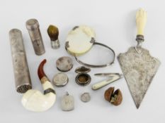 VARIOUS ARTEFACTS RELATING TO THE VIVIAN FAMILY OF SWANSEA including presentation silver and ivory