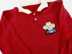 1905-1907 WALES INTERNATIONAL RUGBY UNION JERSEY WORN BY RHYS GABE (1880-1967) HAVING BEEN SWAPPED