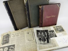 FIVE VIVIAN FAMILY SCRAP BOOKS CONTAINING NEWSPAPER CUTTINGS Victorian and later, mainly relating to