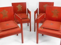 FOUR INVESTITURE CHAIRS an icon of design being the 1969 Prince of Wales Investiture chair by Lord