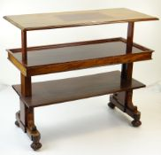 GILLOWS EARLY VICTORIAN MAHOGANY METAMORPHIC THREE-TIER BUFFET SIDEBOARD stamped Gillows, Lancaster,