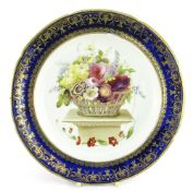 A SWANSEA PORCELAIN SHALLOW DISH FOR THE 'LYSAGHT' SERVICE the interior decorated with a large