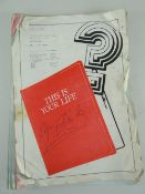 A THAMES TELEVISION 'THIS IS YOUR LIFE' SCRIPT FOR SIR GARETH EDWARDS CBE, dated 31st March 1976,