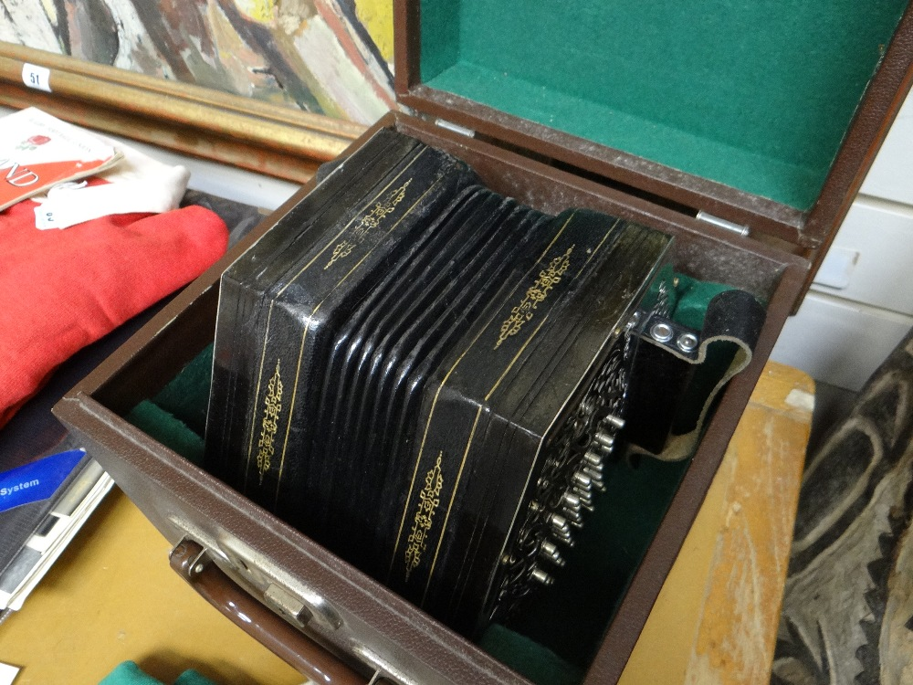 JEFFRIES BROS. ENGLISH 55-KEY 'CRANE-SYSTEM' CONCERTINA ACCORDION, 1908-1923, with seven black - Image 16 of 23