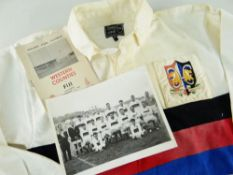 1964 WESTERN COUNTIES OF WALES RUGBY UNION JERSEY MATCH WORN BY NORMAN GALE AGAINST FIJI played at