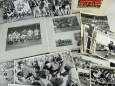 AN INTERESTING COLLECTION OF CIRCA 1970s PRESS PHOTOGRAPHS RELATING TO SPORTING OCCASIONS majority