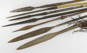 SEVEN VARIOUS AFRICAN SPEARS (7)