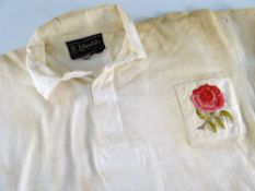 1968 ENGLAND INTERNATIONAL RUGBY UNION JERSEY MATCH WORN BY BRIAN KEEN (b.1944) on his debut against