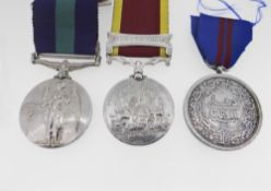 MEDALS: SECOND CHINA WAR MEDAL (UNNAMED) with clasp for Canton 1857, King George V General Service