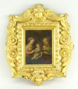 FOLLOWER OF HENDRIK VAN BALEN oil on copper - Holy Family with St Anne, verso bears marks '413