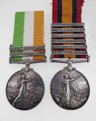 MEDALS: BOER WAR PAIR comprising Queen's South Africa Medal (5321 Corpl J. W. Stanley, RL: WT: